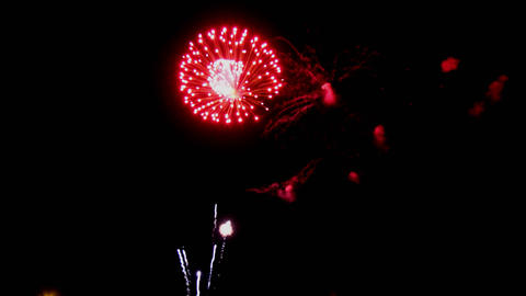 Colorful firework with copy space for New Year celebration, Abstract holiday Footage