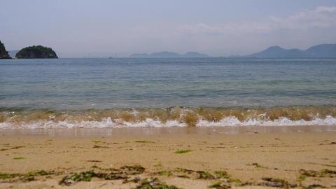 Seascape from Naoshima island, Kagawa Prefecture, Japan. Naoshima is an island in the Seto Inland Footage