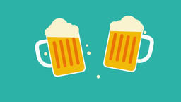 Beer glasses, October fest. 2d animation Animation