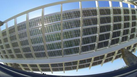 Large solar panel.Time Lapse Live Action