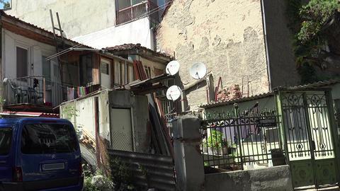 Old courtyard in Varna. Bulgaria Footage