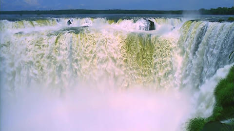View on Stormy Waters of Niagara Falls Footage