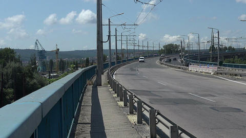 Asparuhov bridge in Varna. Bulgaria Footage