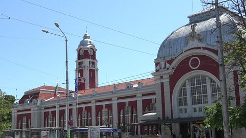 Railway station in Varna. Bulgaria Footage