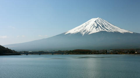 Mount Fuji clear and cloudless Live Action