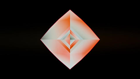 Multicolored bouncing 3D diamond splitting and rejoining into polygon form seaml Animation
