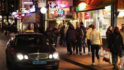 amsterdam street at night Footage