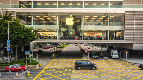 People in Apple Store Timelapse Footage