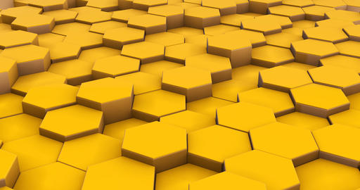 Abstract yellow cubes 3d motion footage Live Action