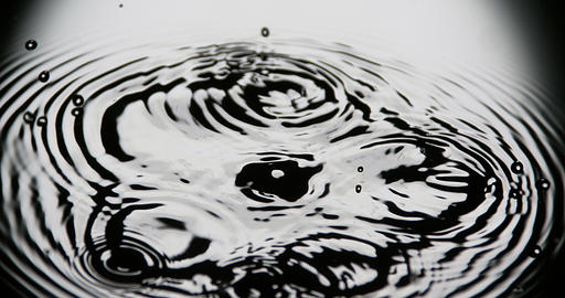 Drop of Water falling into Water, Slow motion 4K Live Action