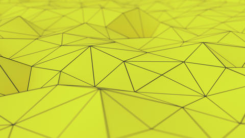 0995 Yellow low poly displaced surface with black lines Animation