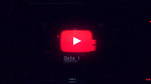 Cyber Data Logo After Effects Template