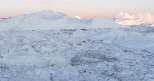 Global warming - Greenland Iceberg landscape of Ilulissat icefjord with iceberg Live Action