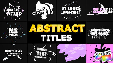 Abstract Cartoon Titles Apple Motion Template