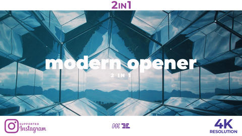 Modern Opener After Effectsテンプレート