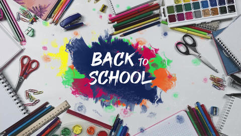 School Stop Motion After Effects Template