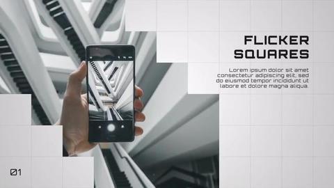 Flicker square corporate - slideshow Premiere Pro Template