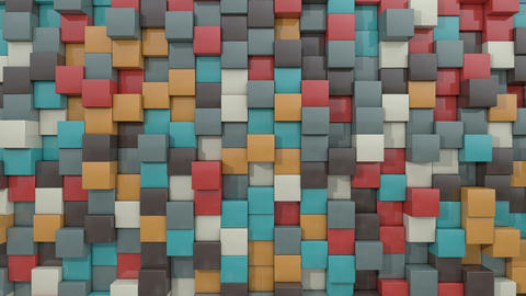 3d animated cube pleasing color GIF