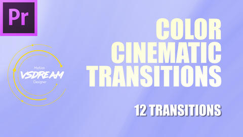 Color Cinematic Transitions Premiere Pro Template
