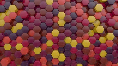 3d animated hexagon dark flame color Animation