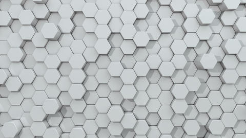 3d animated hexagon white background Animation