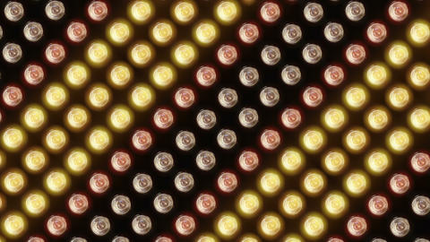 Wall of flashing lights and bright spotlights Animation