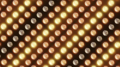 Wall of flashing lights and bright spotlights Stock Video Footage