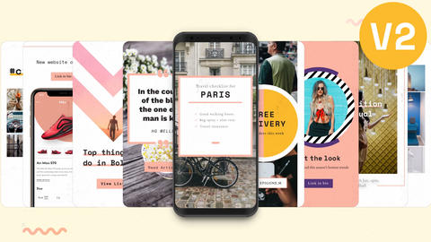 Instagram Stories: Showy Pack V2 After Effects Template