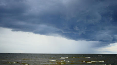supercell over the Baltic Sea Live Action