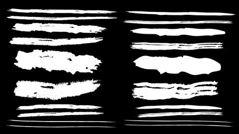 Several animated paint brushes on a black background Animation