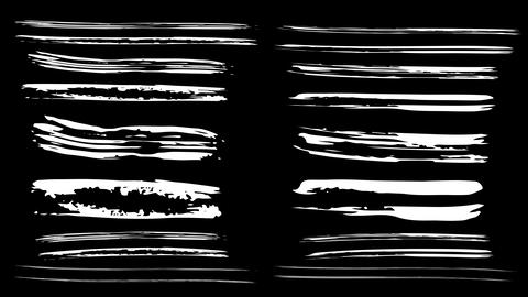 Animated texture brush strokes on a black background Animation