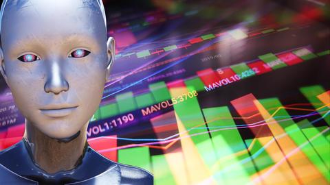 4K Artificial Intelligence Algorithm Trading Stock Market Concept 2 Animation