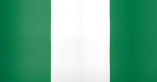 Waving Flag of Nigeria Looping Background Live Action