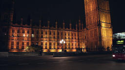 Big ben at night in london Stock Video Footage