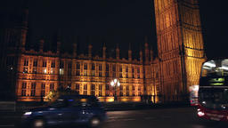 Big ben at night in london Footage