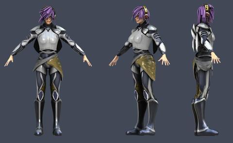 3D model of a cyborg princess 3D Model