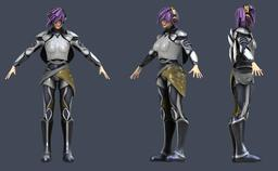 3D model of a cyborg princess 3D Modell