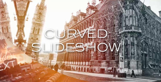 Curve Slideshow After Effects Template