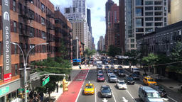 View of Manhattan's 2nd Avenue as Seen from Roosevelt Tramway Footage