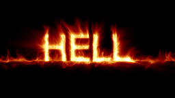 Animated fire text: Hell Animation