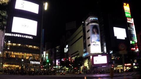 Shibuya Station pass image/渋谷駅前の車窓 Footage