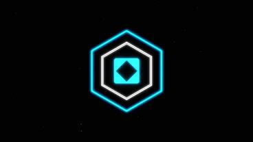 Distort Glitch Hex Logo Reveal Intro - Distorted Video Logo Sting Animation Plantilla de After Effects