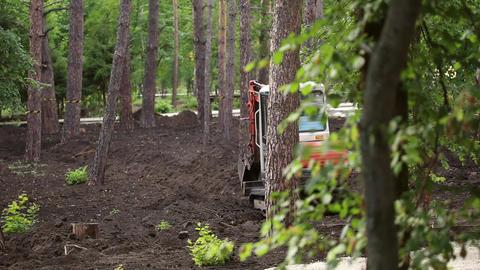 Excavator digging bucket Footage