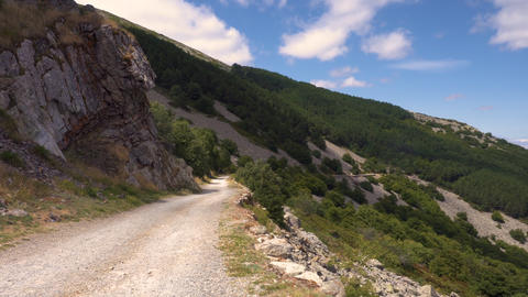 Off road drive top of mountain POV. Mountains nature, landscape and scenic Live Action
