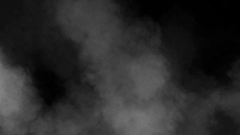 Grey haze in motion on black background HD Footage