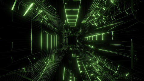 green wireframe design with nice reflection 3d rendering background wallpaper Animation
