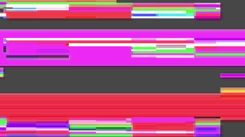 The clutter on the screen with color defects in the color and gray noise 4k Live Action