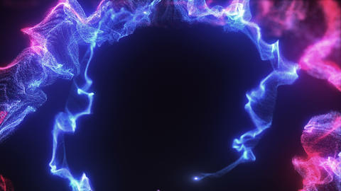Particular of lights set Deep Spiral magenta blue Animation