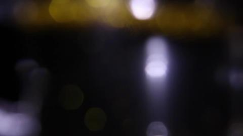 Blurred city night lights HD Footage