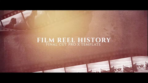 Film Reel History Apple Motionテンプレート